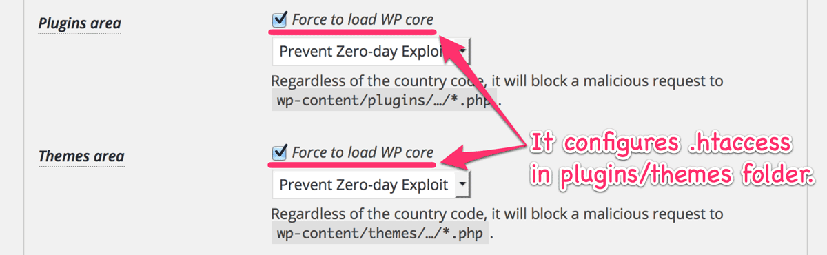Force to load WP core by .htaccess