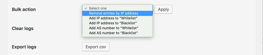 Remove entries by IP address